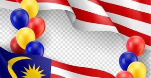 Calibre patriotique malaisien avec l'espace de copie illustration stock
