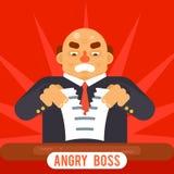 Calibre plat de conception de patron de Tearing Sheet White de papier de contrat de caractère de symbole d'affaires d'icône de co Illustration Libre de Droits