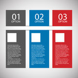 Calibre plat moderne de conception Images stock