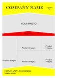 Calibre pour la brochure de publicité. illustration de vecteur