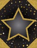 Calibre pour la carte d'offre de salutation d'affaires Étoile brillante ATF d'or illustration libre de droits