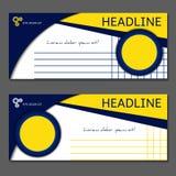 Calibre pour le bon de cadeau, carte, bon Vecteur, illustration Images stock
