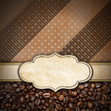 Calibre pour le menu de café Photos stock