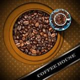 Calibre pour le menu de café Photographie stock