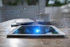 Calibre pour le texte, fond d'écran virtuel Affaires, concept de technologie Photo libre de droits