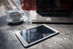 Calibre pour le texte, fond d'écran virtuel Affaires, concept de technologie Images libres de droits