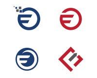 Calibre professionnel de logo de finances d'affaires de lettre de F Photo stock
