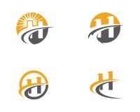 Calibre professionnel de logo de finances d'affaires de lettre de H Photos libres de droits
