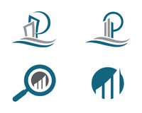 Calibre professionnel de logo de finances d'affaires de lettre de P Photos stock