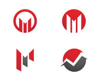Calibre professionnel de logo de M Letter Business Finance Photo stock