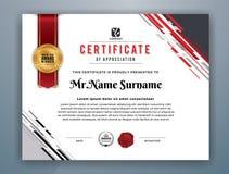 Calibre professionnel moderne de certificat illustration libre de droits
