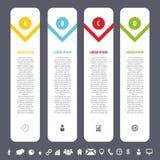 Calibre propre coloré de bannières avec des icônes Vecteur d'Infographics illustration libre de droits