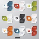 Calibre propre de bannières de nombre de conception. Photos libres de droits