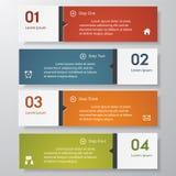 Calibre propre de bannières de nombre de conception. Image stock