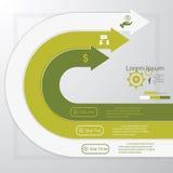 Calibre propre de bannières de nombre de conception. Images libres de droits