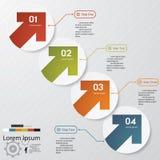 Calibre propre de bannières de nombre de conception. Photo stock
