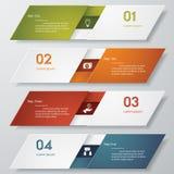 Calibre propre de bannières de nombre de conception Photos libres de droits