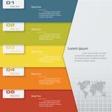 Calibre propre de bannières de nombre de conception Vecteur Photo libre de droits