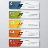 Calibre propre de bannières de nombre de conception Vecteur Photos stock