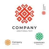 Calibre réglé d'ornement d'Ethno de Logo Modern Identity Brand Symbol de concept folklorique d'icône Illustration Libre de Droits