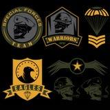 calibre réglé de conception de vecteur d'emblème militaire Images stock
