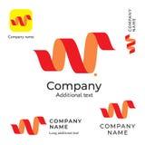 Calibre réglé incurvé de concept de symbole d'icône de marque de Logo Design Modern Clean Identity d'abrégé sur bande illustration stock