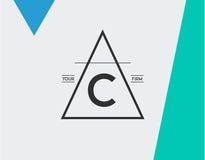 Calibre rayé géométrique minimal pour l'identité de hippie dans le vecteur Photos libres de droits