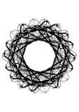 Calibre rond abstrait Goutte noire pour créer des bannières Images stock