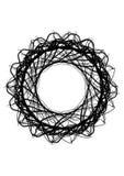 Calibre rond abstrait Goutte noire pour créer des bannières Photo stock