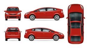 Calibre rouge de vecteur de voiture Photographie stock libre de droits