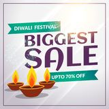 Calibre saisonnier de bannière de remise et de vente de diwali de festival Photo libre de droits
