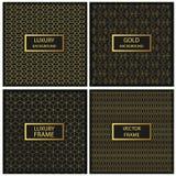 Calibre sans couture de modèle mosaïque d'or Image libre de droits