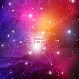 Calibre scientifique de conception avec l'espace de copie Triangles de hippie et structure de molécule sur le fond de l'espace Co illustration de vecteur