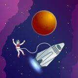 Calibre scientifique plat de galaxie illustration libre de droits