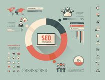 Calibre social d'Infographic de media Image stock