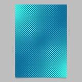 Calibre tramé bleu-clair de page de modèle de point - dirigez le graphique de fond de brochure Images stock