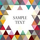 Calibre triangulaire géométrique multicolore de bannière abrégez le fond Vecteur photographie stock libre de droits