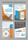 Calibre universel de brochure d'entreprise constituée en société illustration stock