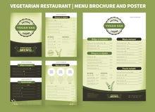 Calibre végétarien de brochure de vecteur de restaurant illustration libre de droits