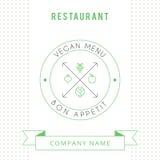 Calibre végétarien de design de carte de menu de restaurant Photo libre de droits