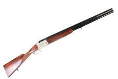 Calibre velho do soviete 12 sobre e sob a arma de cano duplo da caça fotografia de stock