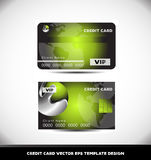 Calibre vert de vecteur de carte de crédit de la sphère VIP en métal Photographie stock libre de droits
