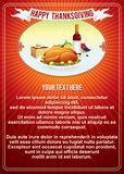 Calibre vertical de fond de thanksgiving. Vecteur Images stock