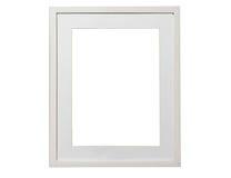 Calibre vide de cadre de blanc de photo d'isolement sur le mur Photographie stock libre de droits