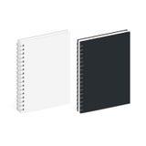 Calibre vide de carnet de notes à spirale Image stock