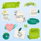 Calibre vide de citation Calibre créatif des textes de citation avec le le vert illustration de vecteur
