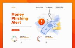 Calibre vigilant de conception de Phishing d'argent images libres de droits