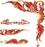 Calibres élégants richement décorés de coin et de frontières illustration libre de droits