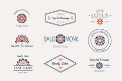 Calibres asiatiques de logo de vecteur Images stock
