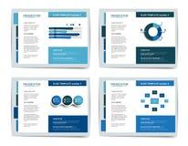4 calibres d'affaires de présentation illustration stock